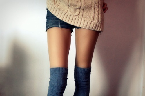 knee, knee high socks, leg, shorts, skinny legs