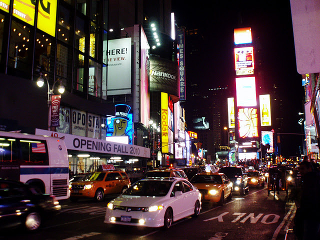 lights, new york, night, nyc, times square