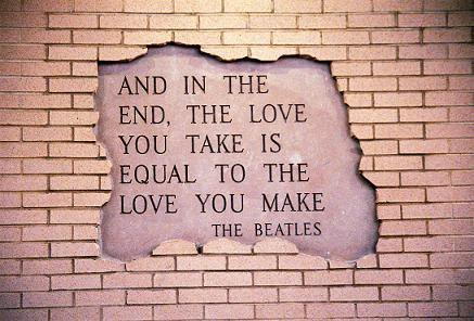 love photography text the beatles the end image 258790 on. Black Bedroom Furniture Sets. Home Design Ideas