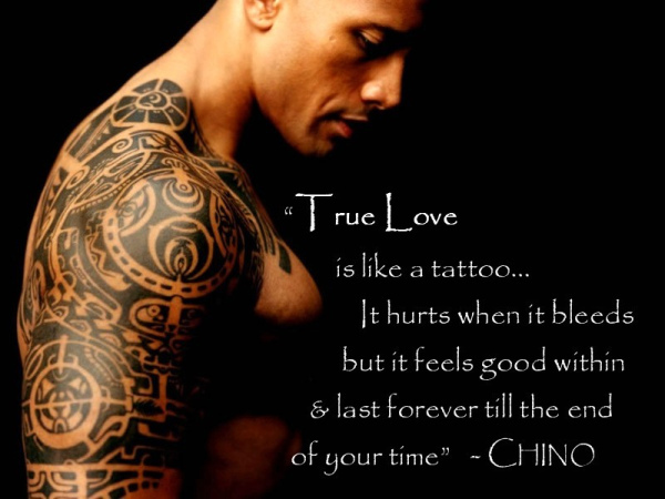 love, tattoo, the rock