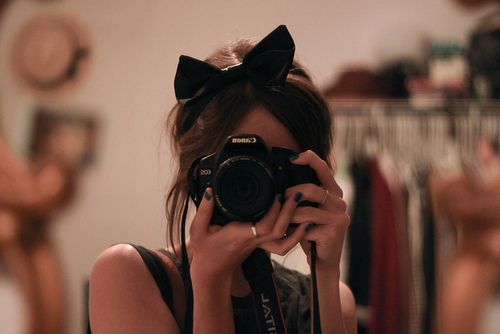 adorab le, adorable, bow, brunette, camera