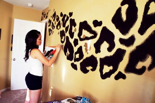 adorable, animal print, beautiful, black, brush