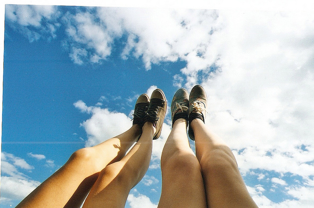 air, art, clouds, feet, film