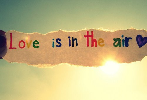 air, beautiful, colourful, cute, love, love is in the air, text