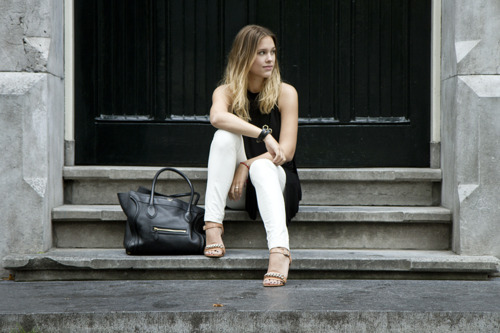 alone, beautiful, beauty, blonde, fashion, girl, new york, pretty, style, woman, work style