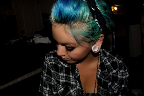 alternative, amazing, black, blue, blue hair
