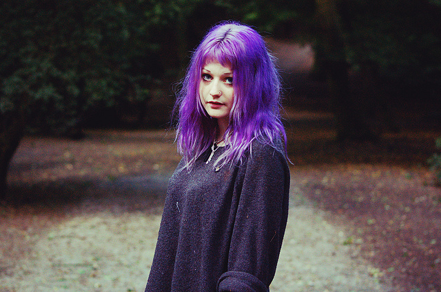alternative, art, dyed hair, girl, hair