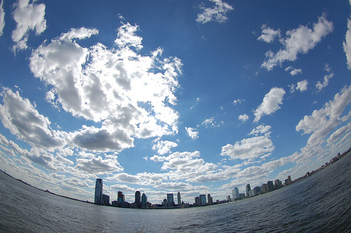 amazing, beautiful, blue, clouds, fish eye