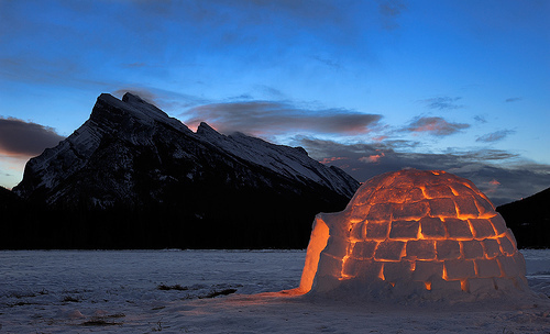 amazing, beautiful, cute, igloo, landscape, luxury, mountain, sky, snow, twilling