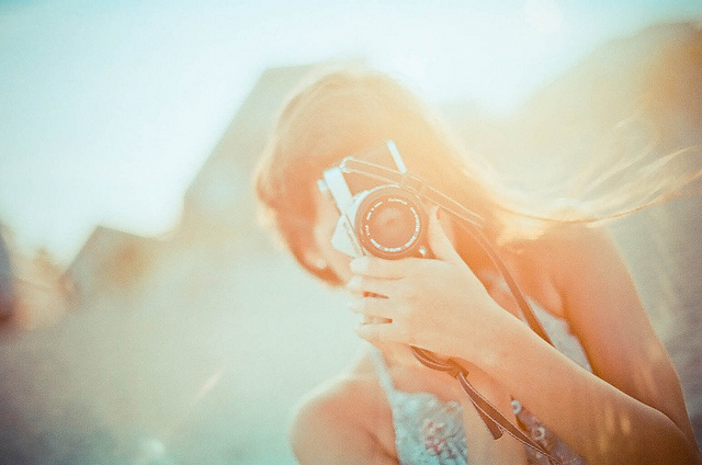 analog, analog camera, art, film, girl