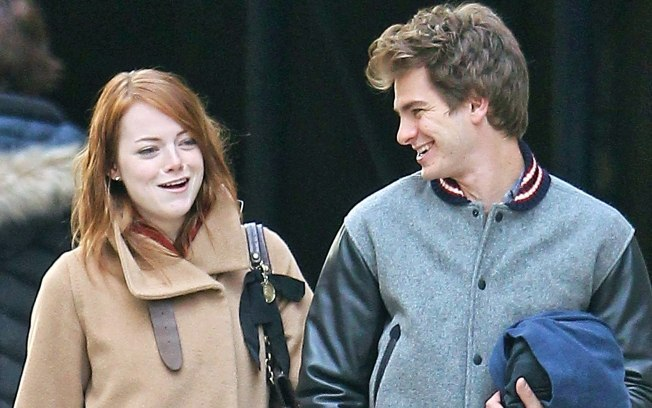 andrew garfield, couple, emma, emma stone, emy