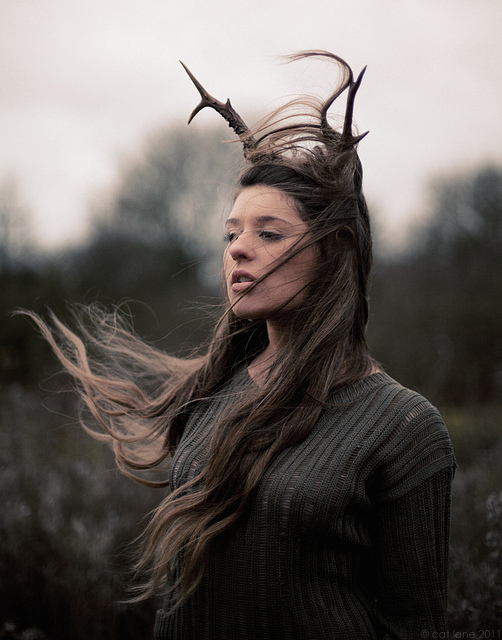 antlers, beautiful, deer, dreamy, girl