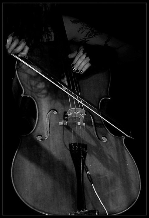 apocalyptica, black and white, bow, cello, music, perttu kivilaakso