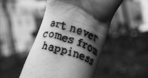 art, bullshit, hapiness, happiness, tattoo