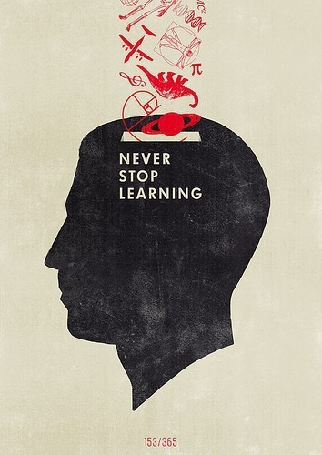 art, design, learning, never, poster