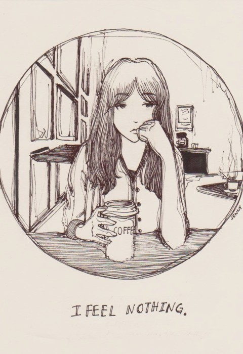 art, drawing, feel, girl, illustration