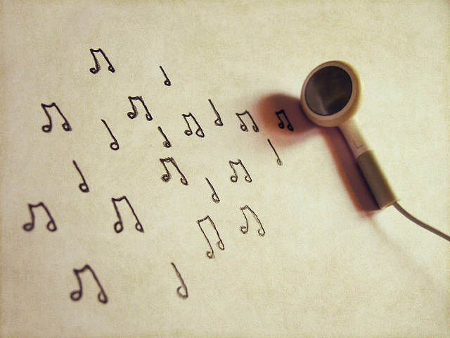 art, headphone, music, music notes, musicc notes