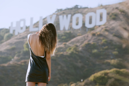 art, hipster, hollywood, hollywood sign, model, text, vintage