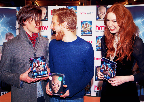 arthur darvill, cute, doctor who, karen gillan, matt smith