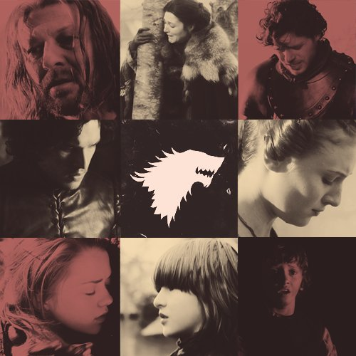arya stark, bran stark, catelyn stark, game of thrones, jon snow