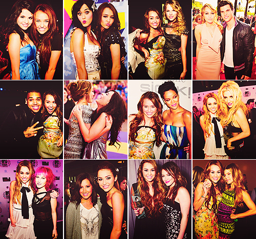 ashley tisdale, chris brown, demi lovato, fergie, hayley williams, hilary duff, katy perry, kesha, miley cyrus, rihanna, selena gomez, taylor lautner, taylor swift