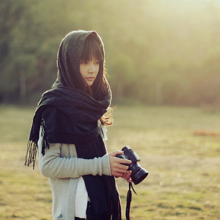 asian, camera, girl, photograph, picture