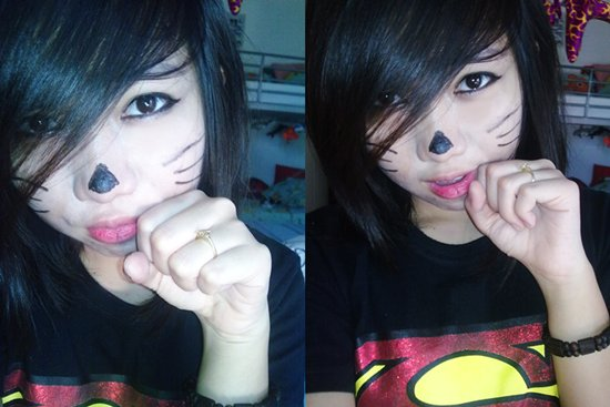 asian, cat, cute eyes, girl, girls, swag