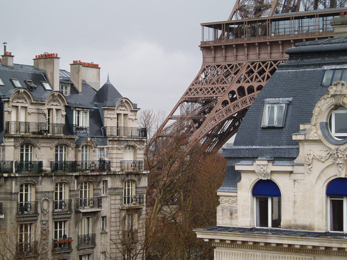 avenue, eiffel tower, france, hilton, octave