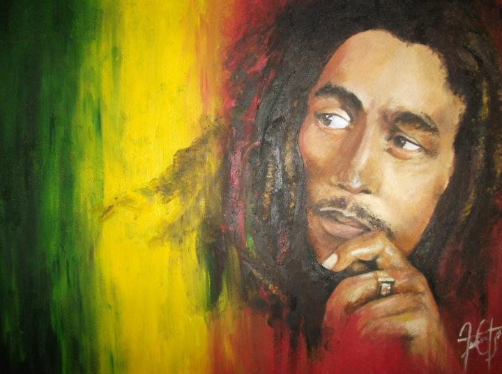 Awesome paint bob marley bob marley painting lucia for Bob marley mural