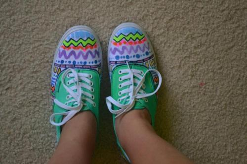 aztec, fashion, shoes