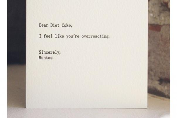 background, black, diet coke, drink, food, funny, lol, mentos, ovvereacting, paper, text, white