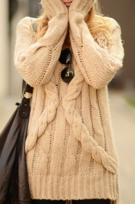 bag, blond, cute, girl, knit