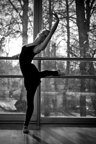 ballerina, ballet, beauty, black and white, cute