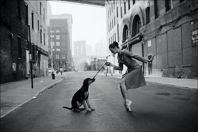 ballerina, city, cute, dance, leash
