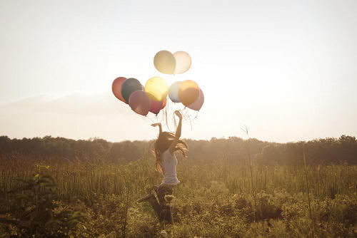 balloon, colorful, free, girl