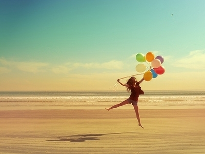 balloons, beach, beauty, freedom, happiness