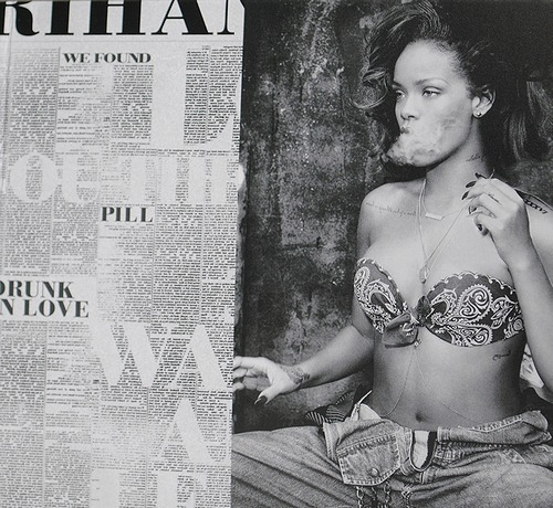 bandana, black and white, cunt, denim, dope, gold, hair, jeans, long, long hair, necklace, rebelle fleur, rihanna, swag, tattoo