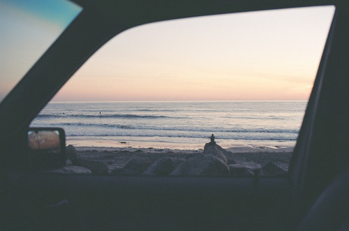 beach, boy, car, landscape, sand