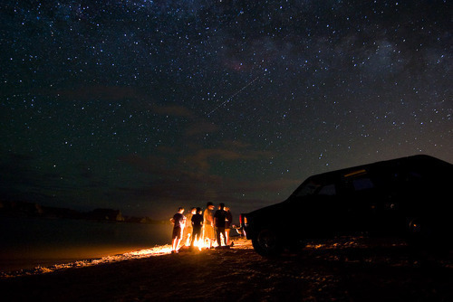 beach, car, dark, fire, fireplace, heaven, light, lights, night, party, sky, star, stars, summer, universe