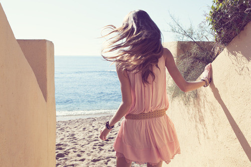 beach, fashion, girl, pink, summer
