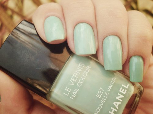 beautiful, beauty, blue, chanel, cute, fashion, girl, girls, girly, light, mint, nail, nail polish, nais, nature, photography, pretty, sweet