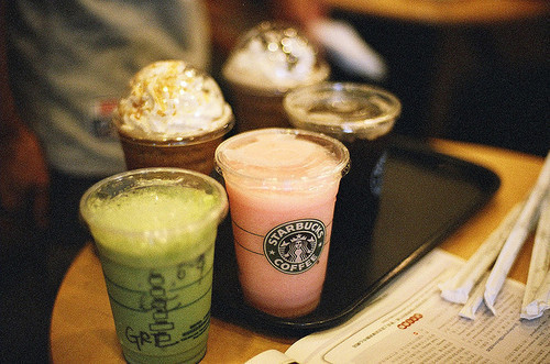 beautiful, beauty, coffee, cute, delicious, drink, food, light, nature, photography, pretty, starbucks, sweet