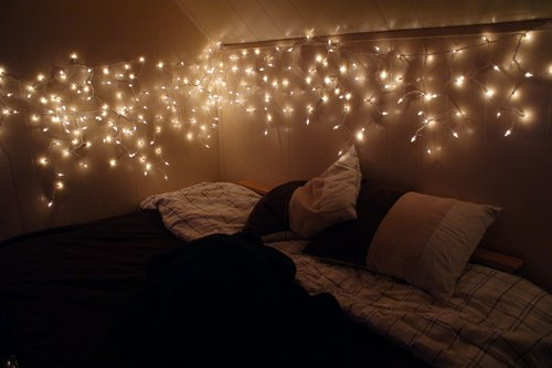 beautiful, bed, bed room, bedroom, color, colorful, colors, comfy, cosy, deco, decoration, fairy light, fairy lights, fairylight, fairylights, interior, interior design, light, lights, night, photography, pretty, room, rooms, vintage