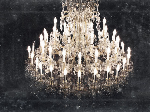 beautiful, big, black and white, chandelier, elegant