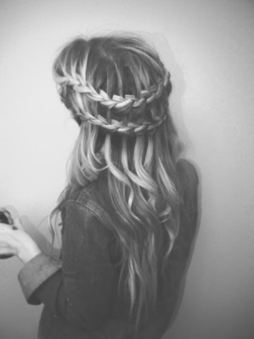 beautiful, black and white, blonde, braid, cute