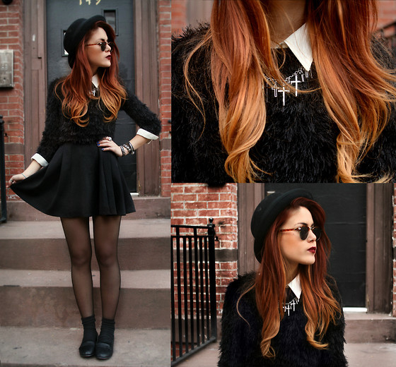 beautiful, black, cute, dress, fashion, girl, gorgeous, hair, hat, ombre hair, omg, outfit, outfits, photograpy, redhead, schoolgirl, skirt, take me as i am, wow