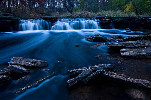beautiful, blue, dark, nature, river