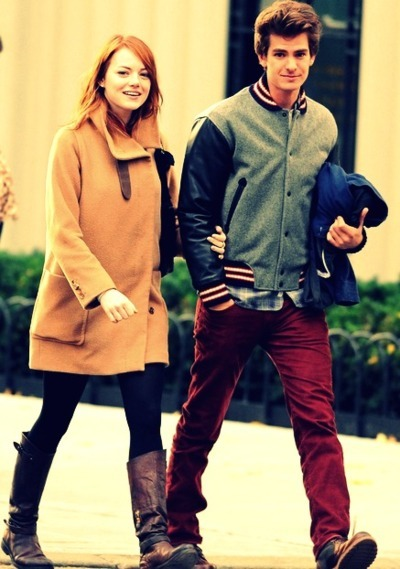 beautiful, boy, couple, cute, emma stone, fashion, girl, hair, love, model, photography, pink, pretty, sexy
