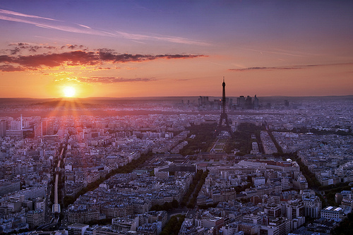 beautiful, cityscape, paris, photography, sunset