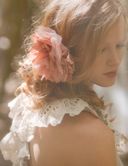 beautiful, fashion, flower, girl, hair, lace, pretty, rose, ruffles, woman